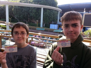 boys old enough to drive their very own cars on Autopia