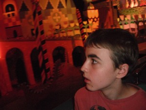 and of course his favorite ride Small world